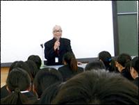 ▲ヤマザキ動物看護大学で講演をしました。