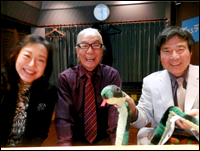 ▲TBSラジオ「大沢悠里のゆうゆうワイド」の収録風景です。