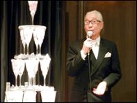 ▲スタッフの結婚式でのスピーチをしました。